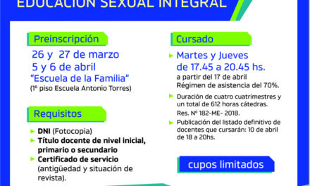 Postítulo de Educación Sexual Integral