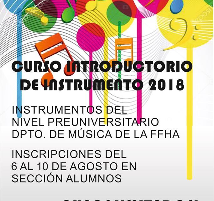 Curso Introductorio de Instrumento 2018