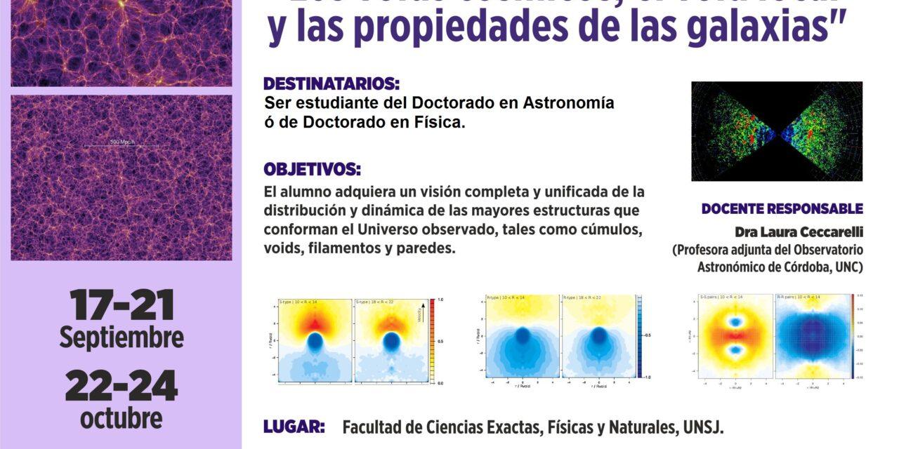 """Curso de Posgrado """"Los voids cósmicos, el void local y las propiedades de las galaxias"""""""