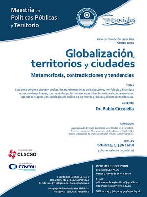 Curso de Posgrado: Globalización, territorios y ciudades