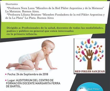 <h6>San Juan, 24 de Septiembre</h6> Jornada de Capacitación de la Red Pikler Argentina