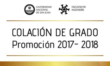 Convocatoria a egresados 2017-2018 a firmar diploma