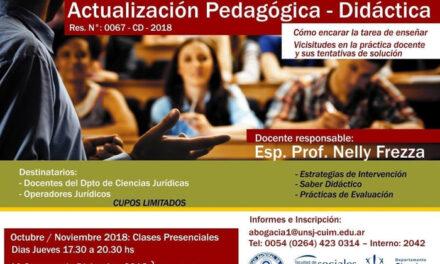 Curso de actualización pedagógica a partir de octubre