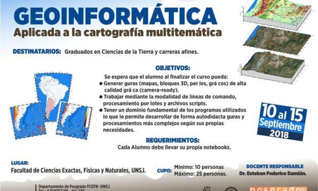 """Curso de posgrado """"Geoinformática aplicada a la cartografía multitemática"""""""