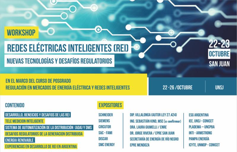 """WorkShop y curso """"Redes Eléctricas Inteligentes (REI): Desafíos Tecnológicos y Regulatorios"""""""