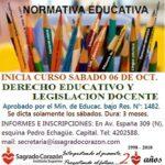 """<h6>Instituto Sagrado Corazón</h6> Curso """"Derecho Educativo y Legislación Docente"""""""