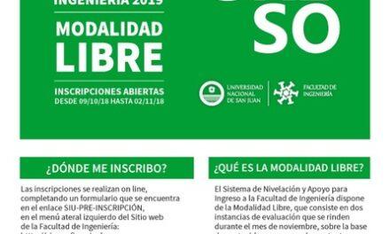 <h6>Audio: Vicedecano Oscar Fernández</h6> Facultad de Ingeniería UNSJ: Ingreso 2019