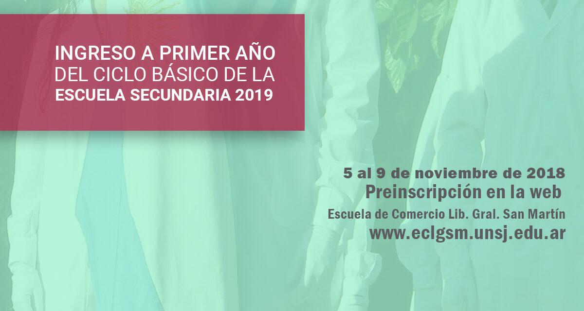 Inscripciones para el ingreso al 1º año del Ciclo Básico en los Institutos Preuniversitarios
