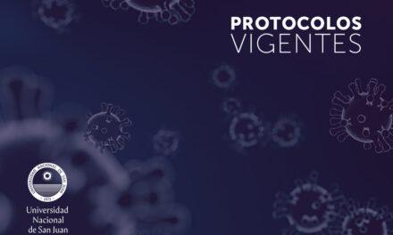 Protocolos vigentes en la UNSJ por COVID-19