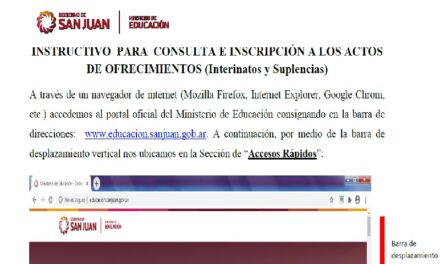 Llamados on line: Instructivo para postularse a los interinatos y suplencias