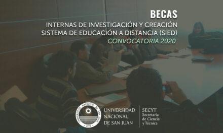 Convocatoria abierta a becas de investigación y becas SIED