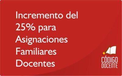 El Gobierno provincial determinó un incremento del 25% para las asignaciones familiares