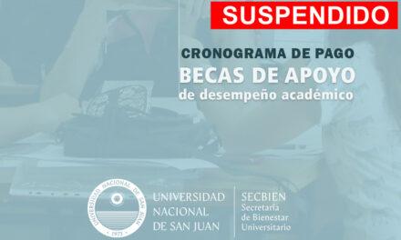 UNSJ: Se suspende pago de Becas