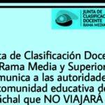 Junta Media no viajará a Jáchal y reprogramará sus inscripciones