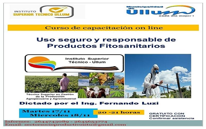 Curso on line: Uso seguro y responsable de Productos Fitosanitarios