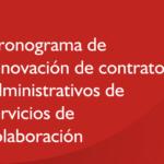 Cronograma de renovación de contratos administrativos de servicios de colaboración