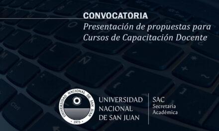 Convocatoria para la presentación de cursos de capacitación y perfeccionamiento docente