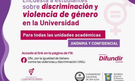 Estudiantes: encuesta sobre discriminación y violencia de género