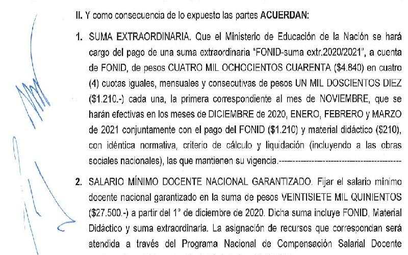Paritaria Nacional: Continuará el pago de Material Didáctico, el doble FONID y sube el Cargo Testigo