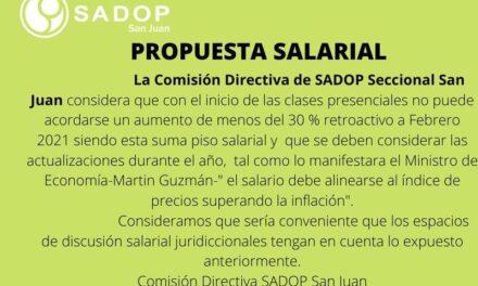 Comunicado de prensa de SADOP sobre la Propuesta Salarial