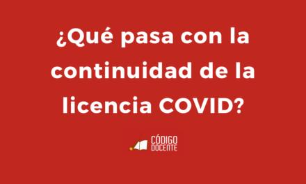 Docentes: ¿Qué pasa con la continuidad de la licencia COVID?