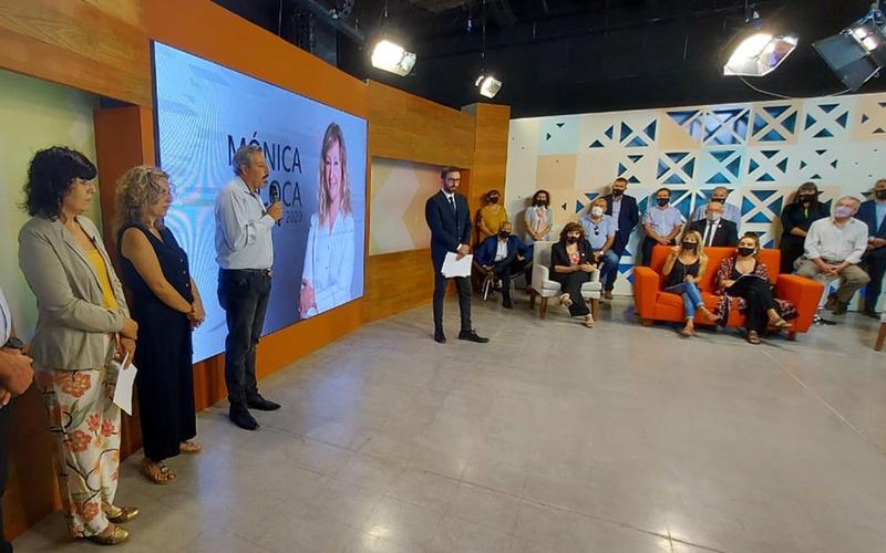 <h6>Homenaje</h6><h1>El Estudio de Xama TV ya tiene el nombre de Mónica Coca</h1>