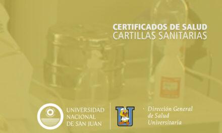 <h6>Salud Universitaria | </h6><h1>En mayo comienza la realización de Cartillas Sanitarias</h1>