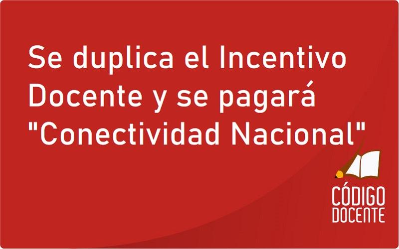 """<h6>Desde Marzo</h6><h1>Se duplica el Incentivo Docente y se pagará """"Conectividad Nacional""""</h1>"""