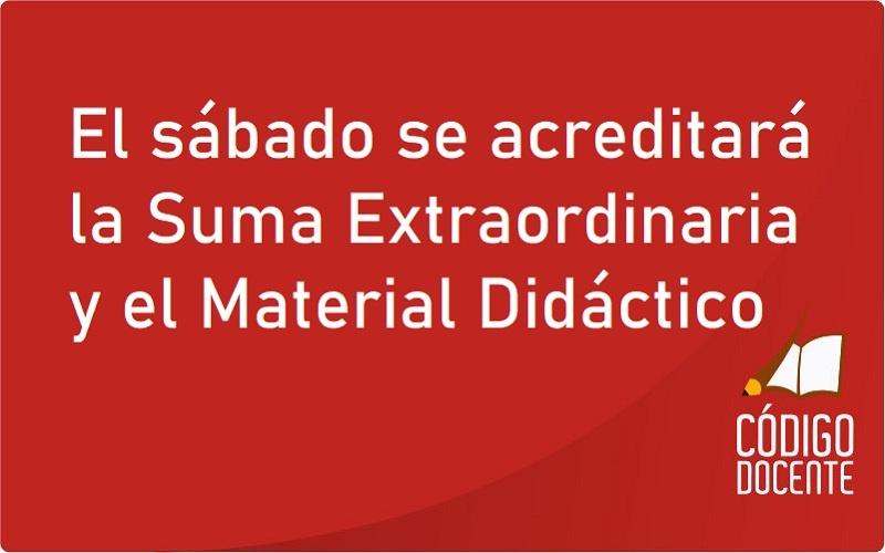 <h6>Haberes de Febrero</h6><h1>El sábado se acreditará la Suma Extraordinaria y el Material Didáctico</h1>