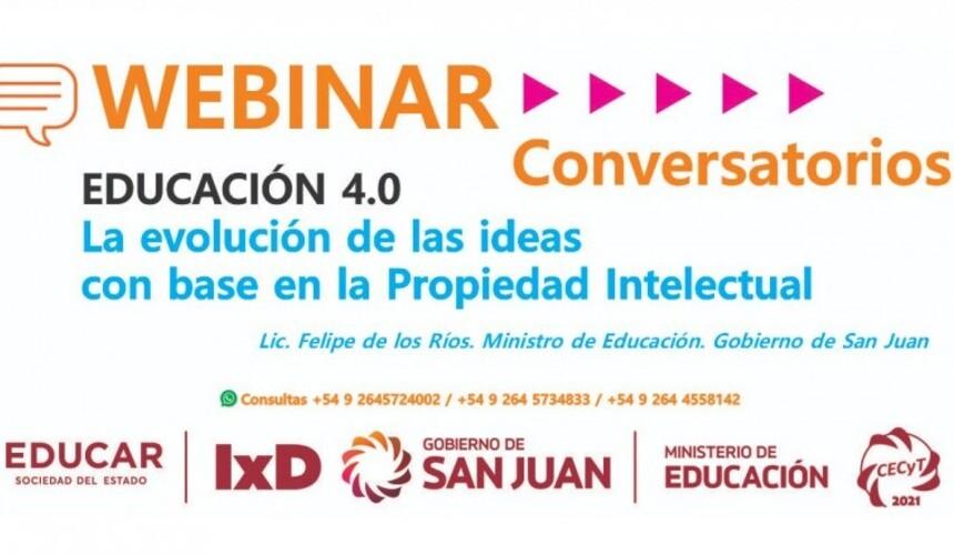 """<h6>Educación 4.0 </h6><h1>Comienza el conversatorio sobre """"La evolución de las ideas con base en la Propiedad Intelectual""""</h1>"""